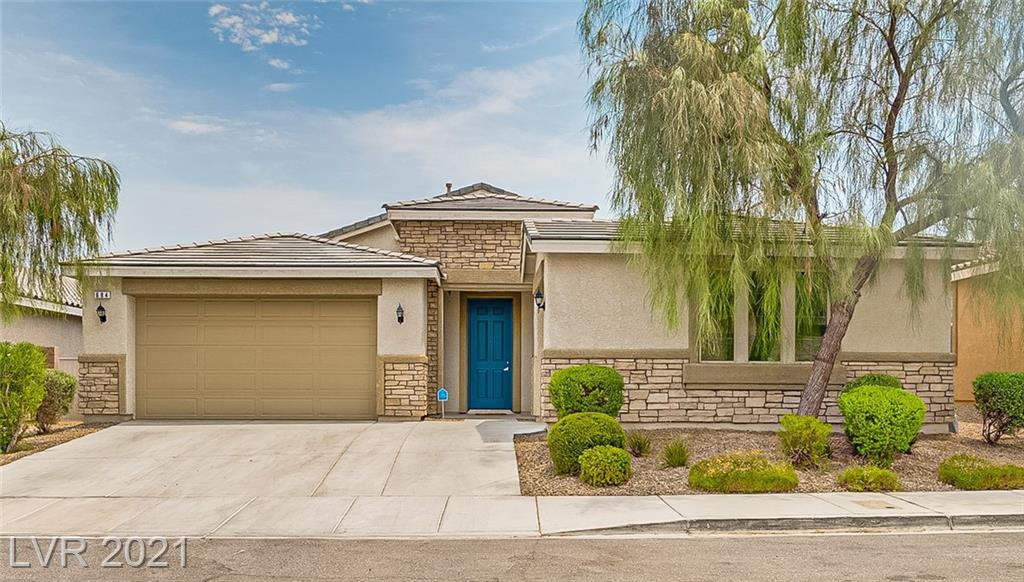 Fabulous 1 story in residential Henderson near shopping, schools & parks. Highly desirable floorplan. Enter onto a spacious foyer that leads to a huge great room w fabulous gourmet kitchen. All tile flooring. Kitchen inclds expresso cabinets w roll-outs, granite counters w full tile backsplash & huge walk-in pantry. Grand kitchen island/breakfast bar w multiple seating space & pendant lighting. All stainless steel appl included: Dbl ovens, B/I microwave, dishwasher & newer fridge. Separate spacious dining room.  Mstr suite separate from others w remodeled bath: huge walk-in shower w sprayer & overhead, new cabinet, quartz counter, dbl undermount sinks, new lighting, tile flooring. Enormous mstr closet w built-in organizers. Bdrm 2 front ensuite with full bath, walk-in closet and 1 car garage access! Bdrm 3 & 4 on opposite side, ea with walk-in closets & ceiling fans. Bth 3 w dbl sinks, separate tub/shower room. Storage space galore t/o. Surround sound prewire incld. Gas stub in B/Y