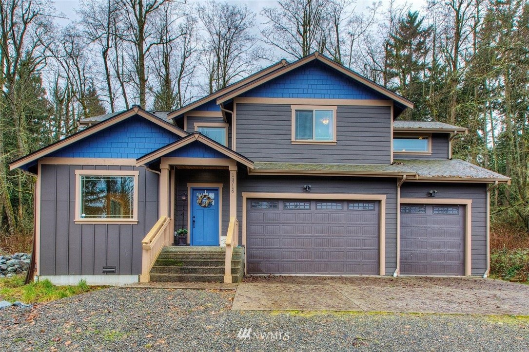 Three year old custom built home on over 2.5 acres in Graham.  Short drive from the seclusion to Meridian or down the hill to Orting.  Formal living/dining in addition to a large open area from kitchen to eating and living area.  Main floor den that has served as an extra bedroom and full bath to avoid stairs.  Huge master and walk-in closet with a private 5 piece bath topped off with a free standing bathtub.  Second floor laundry as well!  Lighting, accents and all the storage will make you smile along with the three car garage!
