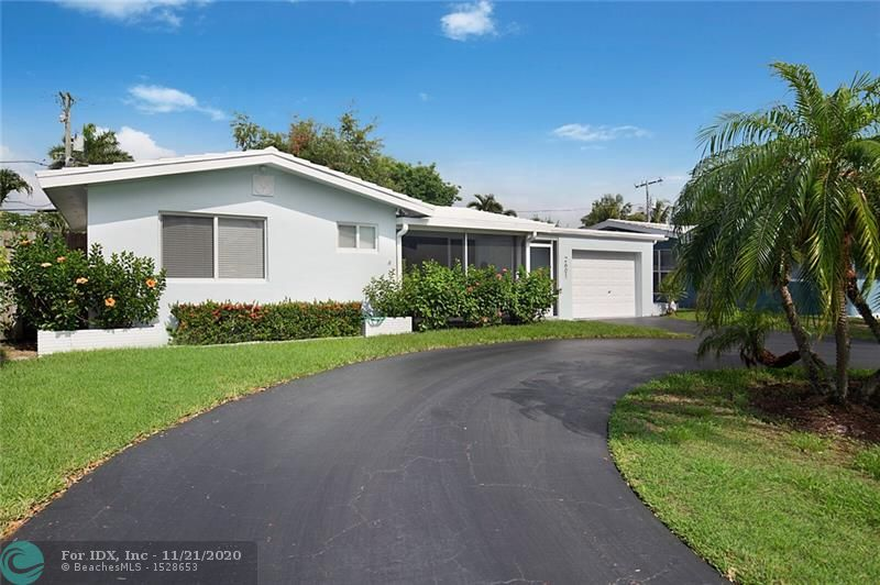 Nicely Updated 2 bedroom, 2 bath, 1 car garage home in Lighthouse Point! All impact windows, beautiful real wood floors and tile, remodeled baths and kitchen with stainless steel appliances. Large Laundry room with plenty of storage. Screened front porch and rear Florida room, with room for a pool in a great neighborhood. Waking distance to Publix and shopping.