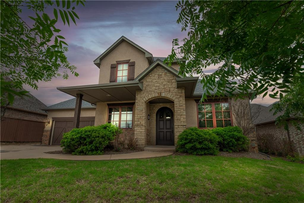 4 Bed,3 Bath,3 Car Garage Home Located in Rose Creek, OKC's Premier Gated Family Golf Community! Easily Accessed Just Inside the 164th St. Gate & Backs to 14th Hole W/Scenic View of Fairway & Green From Balcony! Other Rooms Include Study, Formal Dining, Upstairs Living Area w/Wet Bar/Wine Bar, Mini Fridge & Sink Making The Perfect Hangout w/Balcony Access to Golf View & Beautiful Oklahoma Sunsets! 2 Beds Down & 2 Beds Up!  Kitchen Includes Island & Decorative Bar w/Wine Fridge, Walk-in Pantry, Double Ovens & Gas Cook Top! Granite Tops Throughout ! Master Suite Walks Thru Master Bath to Closet to Utility Room & Back Into the Kitchen! Study w/Beautiful Stained Wood Coffered Ceiling Privately Located at Front of the Home.  Living & Kitchen are Open w/Large Picture Windows Overlooking the Covered Patio & Backyard!  Tons of Storage & Walkout Attic! Majority of the Home Has Recently Been Repainted & LED Lighting Added Throughout. Rose Creek Amenities Include Large Aquatic & Fitness Facility!
