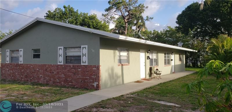 Beautiful & spacious Prime Oakland Park Duplex just blocks away from Culinary Arts and Entertainment district. Close to public transportation, shops, and restaurants. 3 miles to the beach,  minutes from downtown Oakland Park, and less than 10 minutes to the drive in Wilton Manors. Open floor plan with large & spacious  living rooms...Huge back yard perfect for pets. Unit 1 has newer Central AC Unit 2 Central AC around 5yrs old. Both units have their own Washer & Dryers and separate water meters. Brand New permitted Roof March 2021. The front apartment is rented Section-8. Please do not disturb tenant or walk around property.