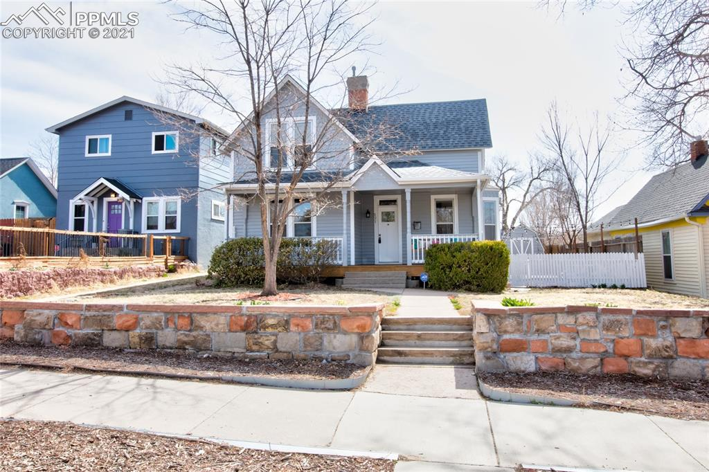 This BEAUTIFUL 3 Bed 2 Bath Victorian located in the popular Old N. End neighborhood with Pike's Peak Views and walking distance to Colorado College and all the great downtown shopping, dining and entertainment! Built in 1895 the home is full of original character and charm, but has been recently remodeled (2015) to include a new modern kitchen with custom cabinets, granite counters and stainless appliances. The main level also includes elegant formal and dining room, bedroom, full bath and laundry. Upstairs the master bedroom/bath features an original claw foot tub, large shower and extra custom closet and the 3rd bedroom. Outside, the home sits on an oversized fenced lot with a new detached 2 car garage, patio with tub pad/electrical that has awesome Pike's Peak Views and front porch swing! Home also has an ADT Alarm System and NEST home thermostat.