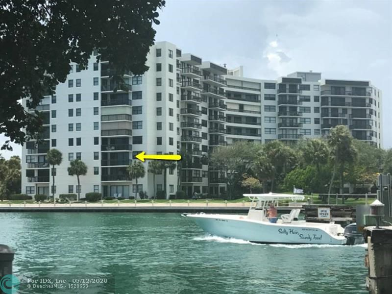 Looking for a place to escape the cold? This corner unit has STUNNING Intracoastal views from every window & door. It's like living on a cruise ship! Relax on your PRIVATE East facing open balcony with direct water & boats parade daily. Most sought after building on the West side of the Intracoastal so no waiting on the bridge. This building was built with fire sprinkler system! Amazing remodeled open floor plan unit with Impact windows & sliders throughout, separate dining area, large walk-in closet & dressing area. W/D in unit. Resort style heated pool directly by the water, BBQ, 24/7 sec., garage parking, Gym, sauna, car wash area, 2 pets up to 25lbs welcome! Located blocks to the beach, restaurants, shops, boat ramp next door, golf, close to FLL airport, etc. Vacant and move-in ready.