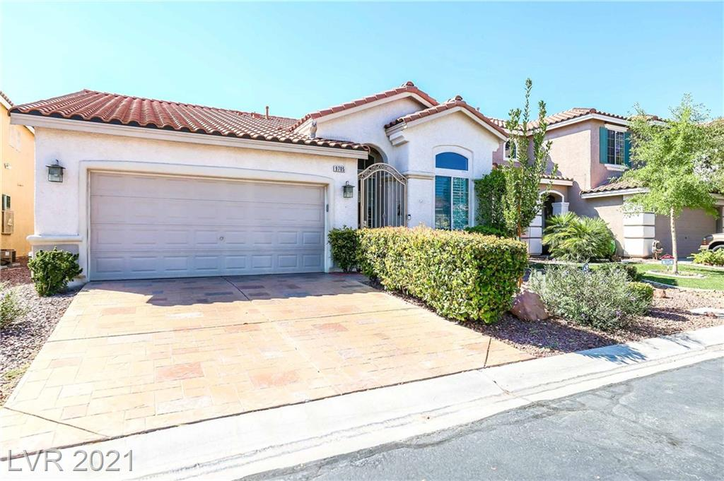 Location! Just outside Summerlin South, in the beautiful and active Southern Terrace Community featuring Community center, with pool, fitness center, walking trails and much more! Property offers 3 Bdrms +front built in office. Tile and laminate flooring throughout property! Plantation shutters, bright open kitchen with stainless steel appliances. Private yard with lush landscaping and covered patio!