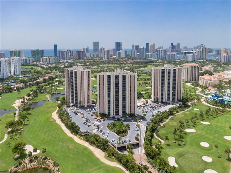 Spacious & Tastefully Updated Condo Located in the Heart of Aventura. The Living Areas and the Bedroom are Bathed in Natural Sunlight compliments of the Preferred South-Eastern Exposure.  The Open-Concept Kitchen affords a Seamless Transition into the Living Area and the Screened in Balcony has Direct Views of the Pool Area with the Turnberry Resort Golf Course as a Beautiful Backdrop. Walking Distance from the Aventura Mall, a Water Resort in front of the Community, a Walking/Jogging path, and Minutes from the Beach and I-95. Coronado Towers Features Guard-Gated Entry, 24-Hour Security, Pool, Gym, Cable & Internet.