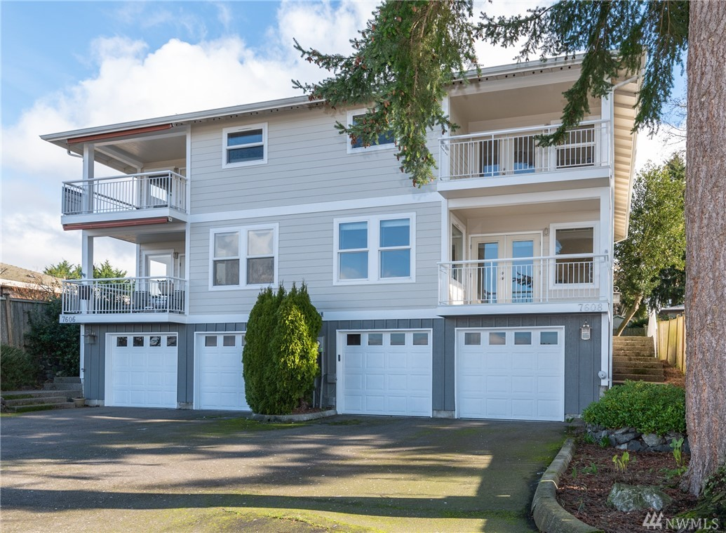 Views of Sound, Olympics, sunsets and Narrows Bridges from this gorgeous, low maintenance west end home. Convenient to beach, UP shopping and dining, Chambers Bay and so much more! Open concept floorplan. Two covered balconies! Up to date kitchen overlooks family room, dining area and views & balcony. Flexible space (staged as media room) plus office on main. Master suite has private view balcony, large bath and walk-in closet. Basement storage! The home and location offer a great lifestyle!