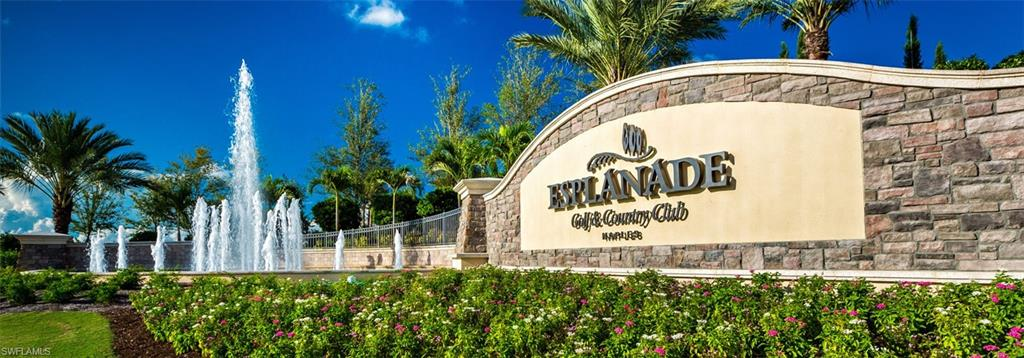 FANTASTIC OPPORTUNITY TO BUY AN ESSENTIALLY NEW CONDO IN THE WONDERFUL ESPLANADE DEVELOPMENT OFF IMMOKALEE RD IN NAPLES. THIS UNIT IS BRIGHT, AIRY, AND OPEN, AND READY FOR THE NEW DISCRIMINATING BUYER. ESPLANADE OFFERS SEVERAL DIFFERENT LEVELS OF MEMBERSHIP AND HAS TOO MANY AMENITIES TO LIST HERE. THIS CONDO WAS PROFESSIONALLY DECORATED. WONDERFUL WATER VIEW FROM THE LANAI. ONE CAR GAARGE.