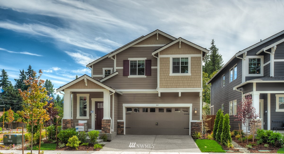 Sequoia at Tahoma Ridge by Lennar.  This popular Sequoia plan features beautiful cabinets and quartz countertops.  Open rail staircase, spacious homeowner suite with amazing bathroom and walk in closets!  The Craftsman style is timeless and a wonderful home to call your own.
