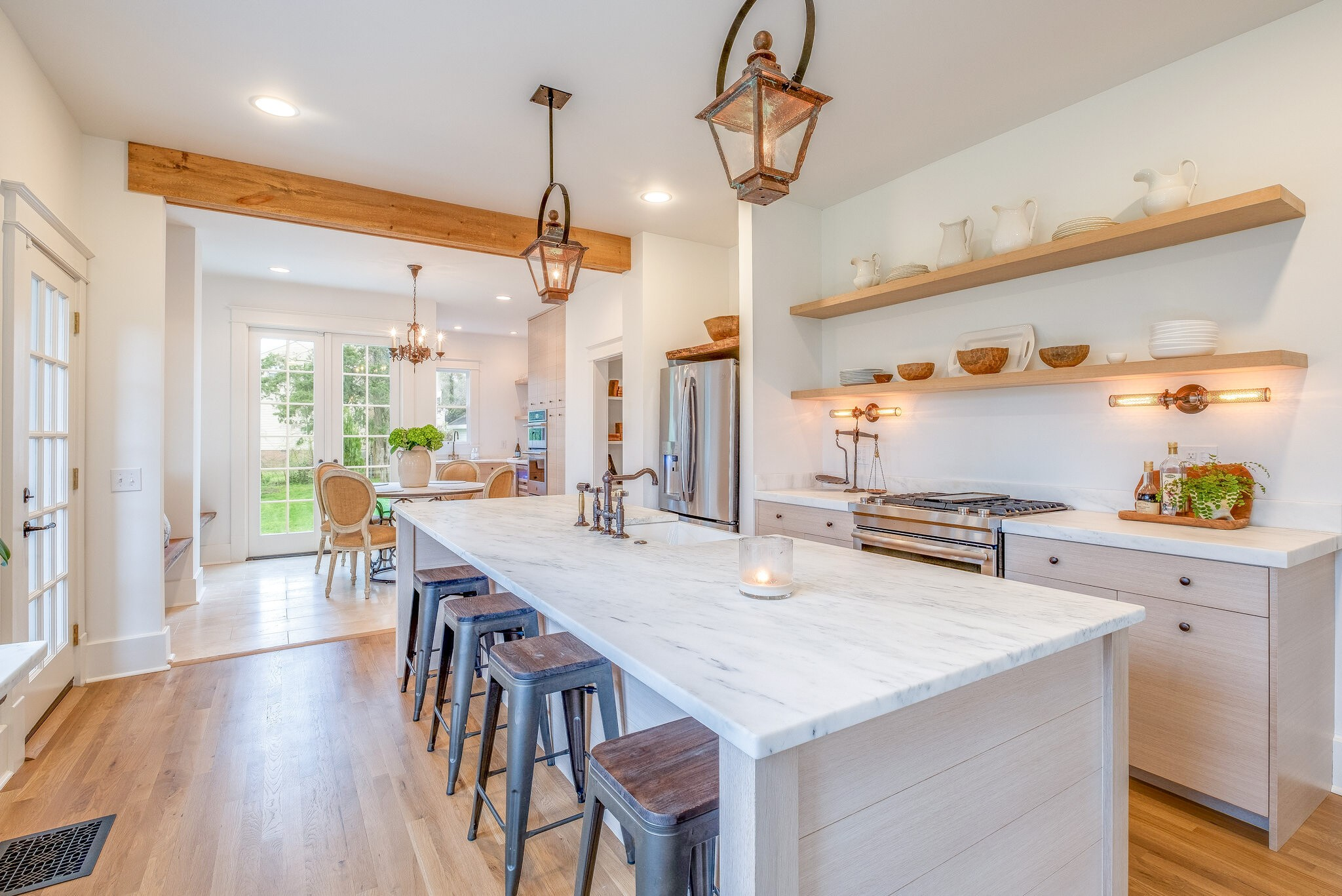 This 111 yr. old historic Foursquare estate has been completely & meticulously restored to include modern comforts & amenities.  You will love the beautifully landscaped, private setting of this double lot in Green Hills. This home is heavily appointed with high-end custom fixtures, finishes, & vintage lighting throughout making this property one of a kind - unlike so many new-builds. Room for expansion!