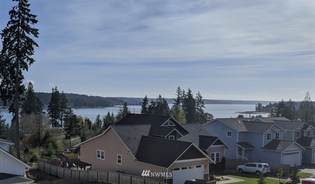 Welcome to The Highlands - On top of the world with sweeping Bay and Sound views!!  Cedarland Homes has taken it to a new level with these beauties in Allyn's newest neighborhood - The North Bay Village.  Enjoy the views from your wide open great room deck & wait until you see the views from the Primary bedroom suite - WOW!  Cedarland quality all around - quartz counters throughout, white cabinets, 9 ft ceilings, wide planked hardwoods, high quality stainless appliances, tankless water heater.  The home is 3 beds 2.5 baths, 1927 sf, PLUS - 320 sf of fully finished separate bonus space above the garage for endless possibilities!  This lot has arguably the best views... don't miss out!  Scheduled for completion by 3/1/21.