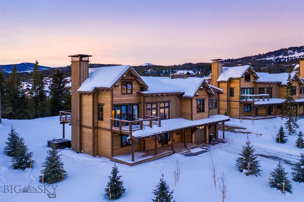 "Lot 35 is a Lookout floor plan with 4 bedrooms and 4.5 bathrooms, finished in a ""Stone"" interior color scheme. The ski access into Highlands and the Highlands and Cabin Chair Lifts make this neighborhood the ultimate in ski in/ski out! Highlands is a Southern facing ski/in ski/out neighborhood surrounded by old-growth pines and set atop a ridge overlooking the surrounding mountains, Yellowstone National Park, the Clubhouse and the under construction Montage Hotel. Homes in Highlands are classic alpine design re-imagined with clean, modern lines and open interior spaces creating warm and elegant ski chalets. Walking distance to skiing, golf, hiking, mountain biking, snow shoeing, cross country skiing, alpine downhill skiing and the Clubhouse (dining, bar, pool, hot tubs, health club). Golf or Ski Social membership is available with this property, purchase of membership deposit at Spanish Peaks Mountain Club required simultaneously at closing of real estate."