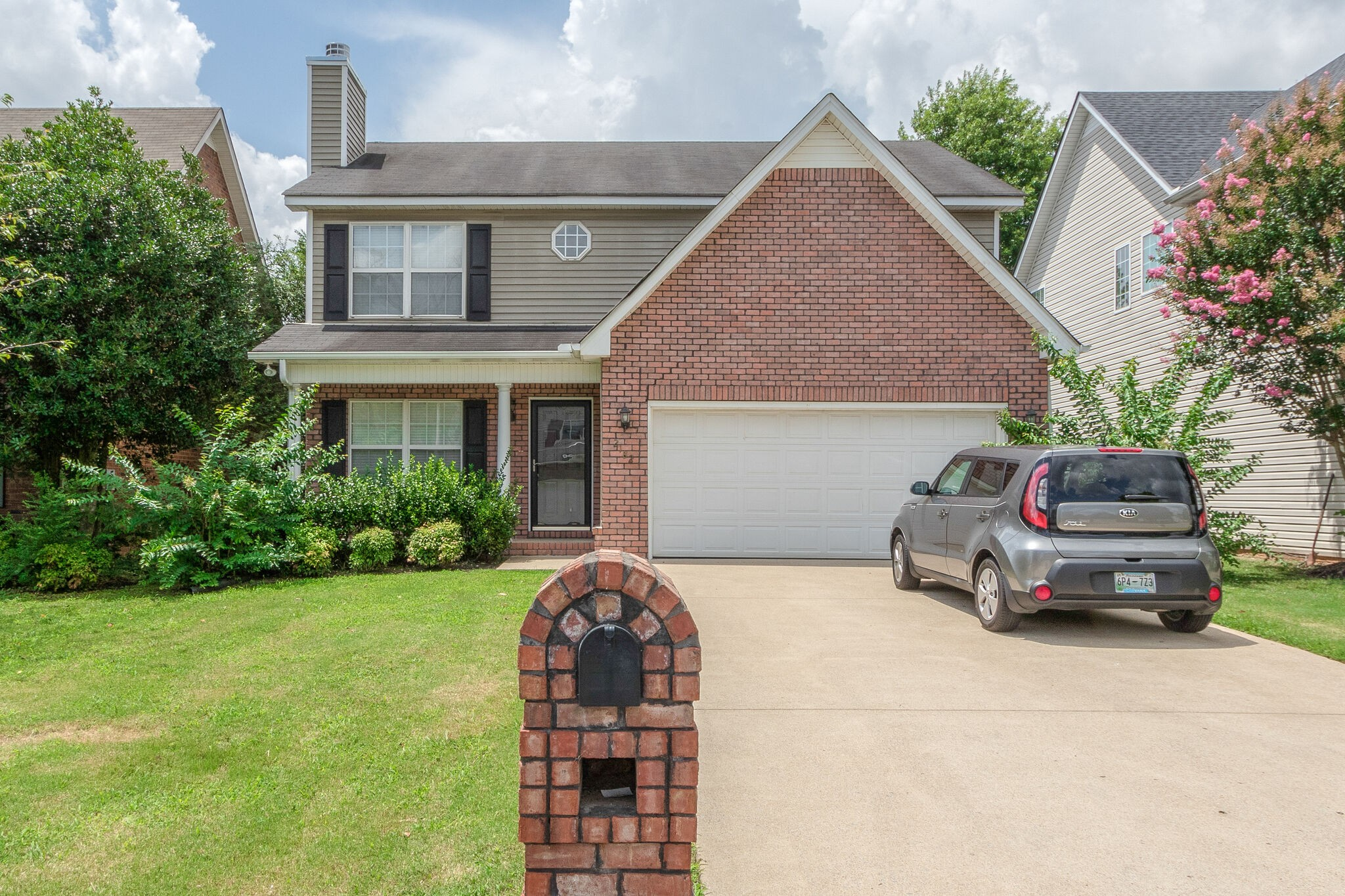 New carpet, paint and some fixtures. Brushed nickle hardware, SS appliances in the kitchen. Downstairs HVAC  is brand new. Nice size bedrooms. Community pool. Close to MTSU, shopping and restaurants.