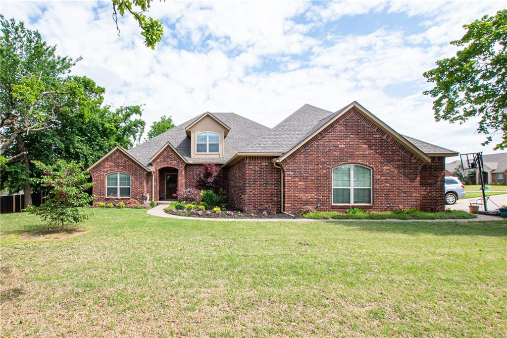 NO FAULT OF THE SELLER This BEAUTIFUL 3 car garage, 4 bed 4 bath 3340 sqft home sits on a.62 acre wooded corner cul-de-sac lot is back on the market! This home has the highly sought after open concept! Kitchen-stainless steel appliances, breakfast bar & walk in pantry. Dining room has a view of the back yard. 2 living areas, perfect for a den/formal living and family room. Study with french doors & ceiling fan.  Spacious master suite is perfect to have bed and small sitting area, bathroom whirlpool tub, walk in closet & separate vanities! 3 additional bedrooms on first floor & 2 full baths. Good sized laundry room with sink! Upstairs you have a huge split bonus room. One half is set up for theater room & other half is being used as a bedroom with full bath.  The back patio is covered & perfect for entertaining. Pool, clubhouse, courts and playground are just on the other side of your fence! Driveway is the bus stop for Cross Timbers elementary! WILL want to call this neighborhood home!