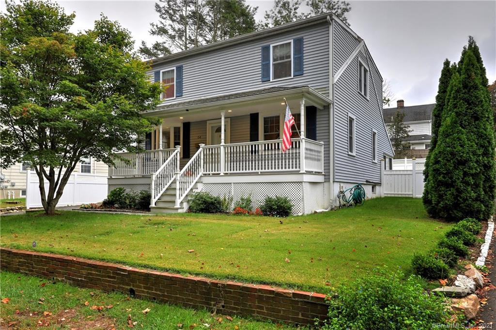 Delightful 4 bedroom Colonial with inviting front porch located on a quiet street in the University Area!   Large, recently renovated, kitchen features white cabinets, granite counters, white subway tile backsplash & SS appliances!   The kitchen opens to an amazing family room with vaulted ceiling, sliding glass doors & many windows overlooking a fantastic private backyard w/a beautiful stone wall & large patio area.  The inviting Living Room features hardwood floors & a wood burning fireplace.  The Dining Room features hardwood floors & sliding barn doors that open to the family room allowing for wonderful entertaining flow.  The 1st floor bedroom has hardwood floors & is conveniently located across from the full bath; this makes for a terrific guest room or office!   The 1st floor, recently renovated, bathroom features a walk in tile shower.  The 3 large bedrooms are located together on the 2nd floor.  The oversized Master bedroom features wall to wall carpet & a large walk in closet. The 2nd floor full bath has also been recently renovated.   The finished lower level offers 390 sqft of additional living space.  The backyard is completely fenced in - great for kids &/or pets.  A/C new in 2018!  1 car detached garage.  Situated on a quiet side street in the desirable University area minutes from shopping, commuter roads, beaches & train!  Desirable schools.  A delight to show!    - Rented Hot Water Tank -