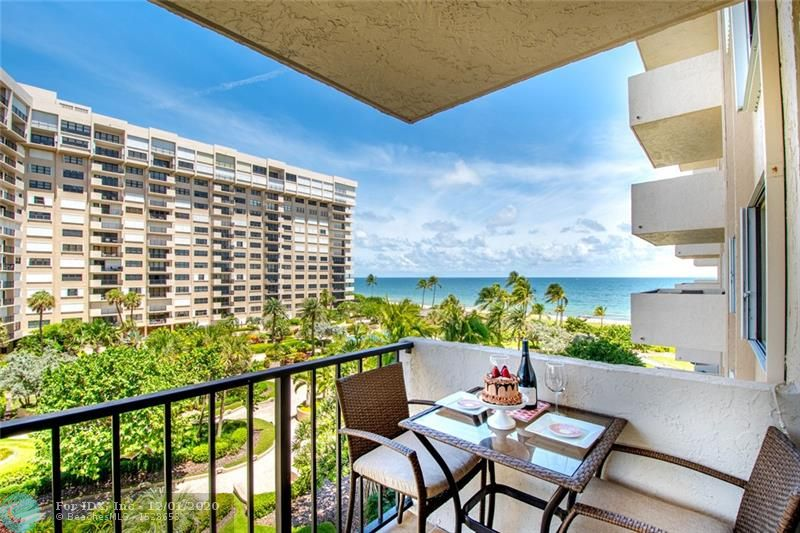 Elegant Ocean Front Living In One of the Best Full Amenity Condominiums in the Heart of Lauderdale By The Sea, this Fully Updated with Open Kitchen 1 Bedroom, 1.5 Bathroom apartment, features Balcony with Ocean, Pool and Garden Views, New A/C, New Water Heater, New installed Hurricane Impact Windows, Open Kitchen, updated half bath room, custom closets, extra storage, washer & dryer. Elegant and friendly building, with high end amenities, two heated pools, beach access, club house, tennis, beautiful manicured grounds. Walk to Restaurants, Publix and local shops. Call for private showing with 24 hr. notice.