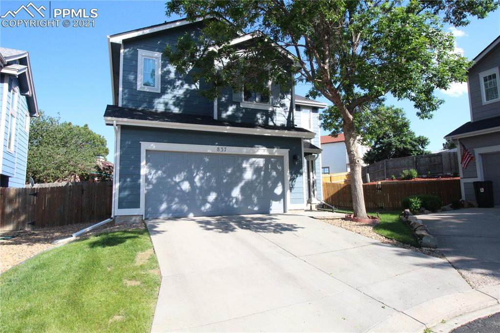 Super cute doll house in excellent condition.  Awesome cul-de-sac location with big backyard.  Rear yard has impressive terraced landscape and is fully fenced.  Gorgeous entry with dark wood style floors throughout main level and tall vaulted ceiling.  Dedicated dining space and huge walk in pantry.  Gourmet chef's kitchen with slab granite and stainless steel appliances.  Main level laundry room.  Upper level features a large master bedroom with French doors and beautiful updated bathroom with double sinks.  Two more good sized bedrooms upstairs that share an updated jack and Jill bath.  All bathrooms are updated and beautiful.  Super close to Ft Carson and shopping.  This is truly a beautiful and well cared for home.  Central air or keep you cool on these hot summer days!