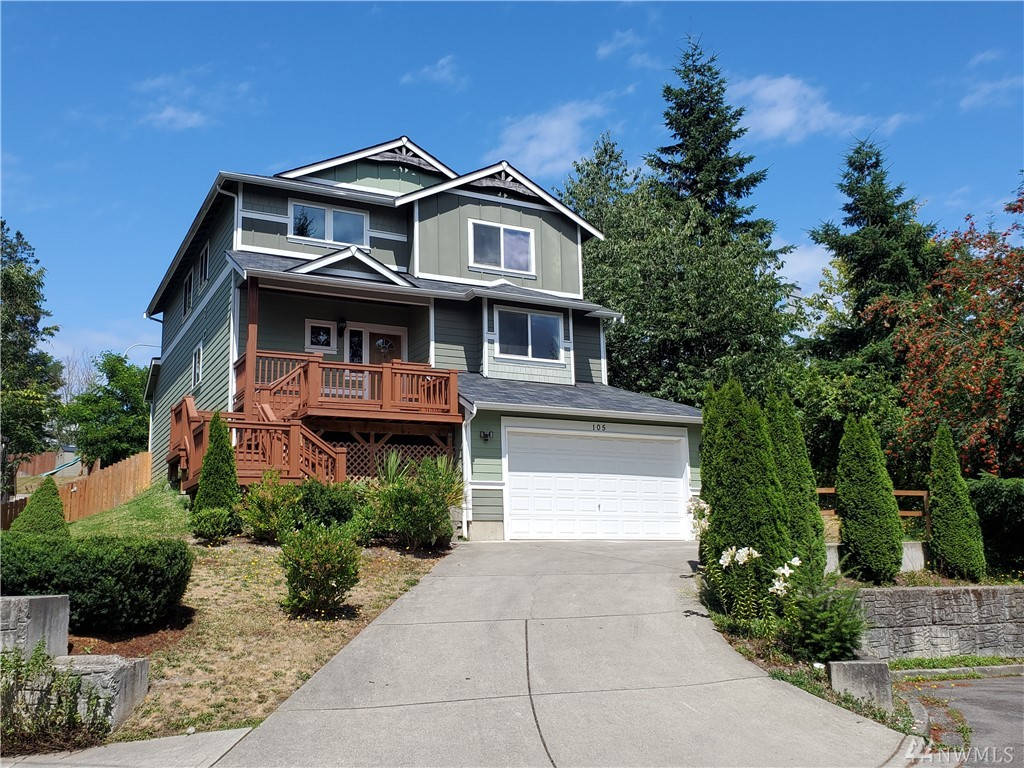 Welcome Home to this Beautiful 4 bedroom, 2.5 bath- 2-Story Home in Fircrest! Bright, Open concept floor plan with elegant entry. Large Living room with gas F/P and high ceilings. Entertain in the  kitchen w/ granite counter tops, island, custom back splash w/ separated sink bar and pantry. Separated Dining room. 3 Large Bedrooms upstairs & Family room. Great Master Bdrm on the main floor w/ 5 piece master bath and walk in closet. Oversized 2 car garage. A MUST SEE!!