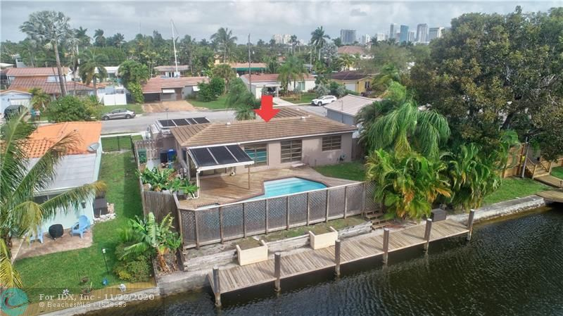 FINANCING FELL THROUGH, BACK ON THE MARKET! Avid boat lovers, This is your opportunity to own your own waterfront home in the much desired Citrus Isles. This property has  65 feet of deep waterfront,  no fixed bridges, ocean access, and a newly refurbished 50-foot dock.  The residence includes a private solar heated pool.  Bonus room that can be converted to a bedroom or office. A second bathroom can easily be added off the bonus room. Prime location to Las Olas,  trendy shops and restaurants, nightlife, and award-winning beaches. Minutes to airport, I95, I595, and Port Everglades.