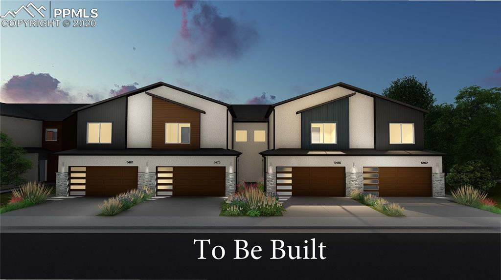 Stellar new townhome project on the east side of Colorado Springs. Plans also available three bedroom and two bedroom units.Very spacious units with over 1800 sqft and basement units with over 2600 sqft. large two car attached garage for each unit. Granite Kitchen counter and stainless appliances. Modern design inside and out. Contract early to pick out your own design choices. This plan has two large bedrooms with attached baths and walk-in closets.