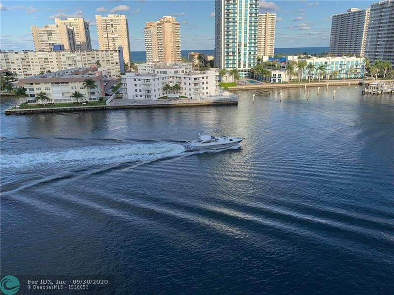 BREATHTAKING INTERCOASTAL & OCEAN water VIEWS that will leave you breathless Day & Night! Enjoy the ocean breeze and watch the BOATS go by on the IntraCoastal from your private balcony! This Corner unit is the larger 2 bedroom which includes dining room windows looking up the Intracoastal to Miami.  Completely REMODELED. FURNISHED /TURNKEY MOVE-IN READY. Newer Open Kitchen, Cabinets, Plumbing Fixtures, Granite Countertops, Recessed Lighting, IMPACT windows & Doors. Gorgeous remodeled bathrooms. Combination WASHER/DRYER inside unit. Must own 2 yrs before renting twice a year. X-storage. 40 yr inspection is done. Well maintained Building. Heated pool, sundeck, BBQ area, recreation room., gym, billiard. Cats OK. Walk to beach, shops & casinos.  All ages.