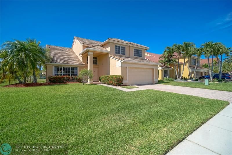 Rarely available Bristol model is looking for a new owner! This spacious 4/3 is located in gated Chapel Trail Estates. The home sits on an oversized 9,375 sf lake front lot w/ plenty of room for a pool. Large kitchen w/ cooking island & newer fridge opens to spacious breakfast area and family room w/ a bonus built-in wet bar! One full cabana bath downstairs for easy access. A/C system only 2 years old. Updated security system. Pavered  driveway & entrance. Hurricane shutters on all windows. New sprinkler pump w/ lake irrigation. Chapel Trail residents have access to Rose Price Park which features a community swimming pool, tennis, basketball, & racquetball courts, ball field, and playground. Floorplan attached. Check out the virtual tour- https://youtu.be/XwZOBrw4t4U  *SEE BROKERS REMARKS*
