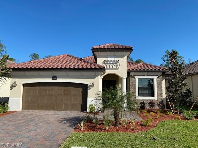"""NEW CONSTRUCTION: Bonita National is the #1 Selling Community in SWFL 3 years in a row. Amenities include Clubhouse with Formal/Casual Dining, Beach Entry Resort Pool, Fitness & Aerobics Centers, Poolside Café Bar & Grill, 8 Tennis courts, 18 hole Championship golf (select homesites), Full Service Spa, social clubs & fitness classes.  The Isabella is a perfect size home with an open concept floorplan and 2 car garage. White Shaker cabinets, 20"""" tile set diagonally throughout, upgraded paint, granite countertops, stainless steel appliances, wood shelving in closets, blinds, smart home and hurricane impact windows & doors. Beautiful water views complete with outdoor kitchen, wood ceiling lanai, pool, spa & lanai lights! Social membership included. Full builder warranty.  . Virtual tour and additional pictures are of like kind model & is used for display purposes only. This home is under construction for an estimated completion date of Dec 2020."""