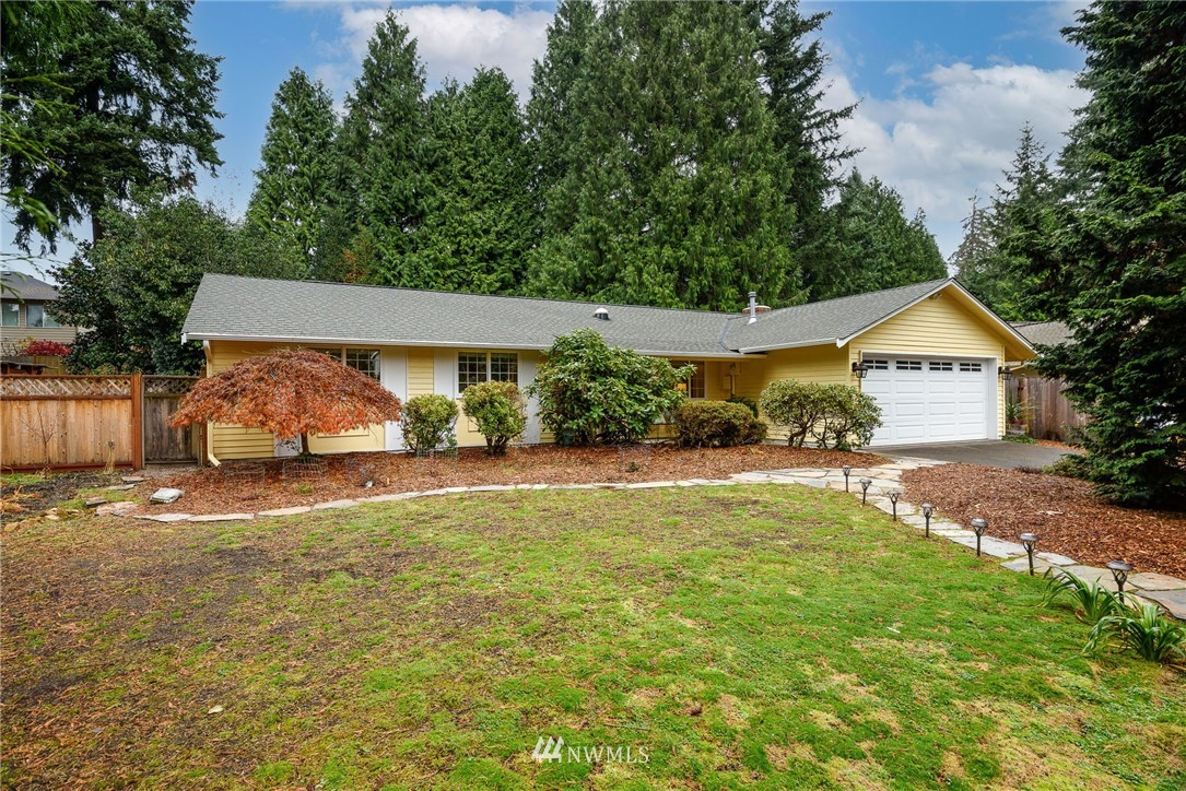 Amazing updated rambler in coveted Wellington Heights neighborhood.   Home owner care and attention to detail is evident in this 3 bdrm 2 bath home.  So many great updates including new sun tubes, flooring, countertops, heated bthrm floor, and back deck.  Beautiful mature landscaped private back yard for fun, play and entertainment.  Close to Woodinville & Bothell. Easy access to 522 / 405. This home is turnkey pre-inspected and ready for you to move in.  Welcome home!