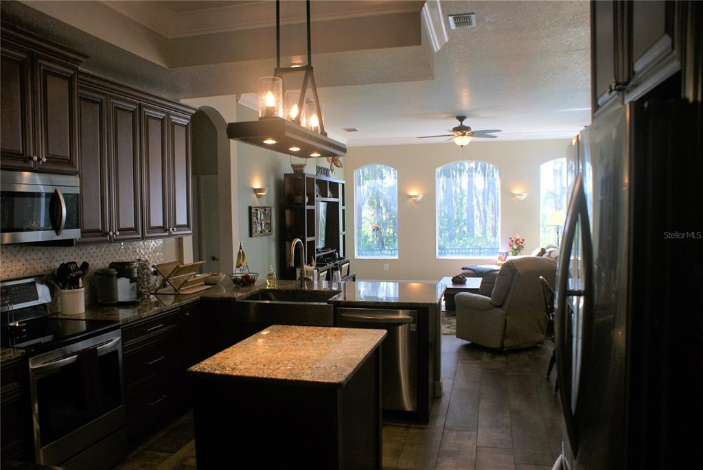Open-Concept Kitchen and Family Room