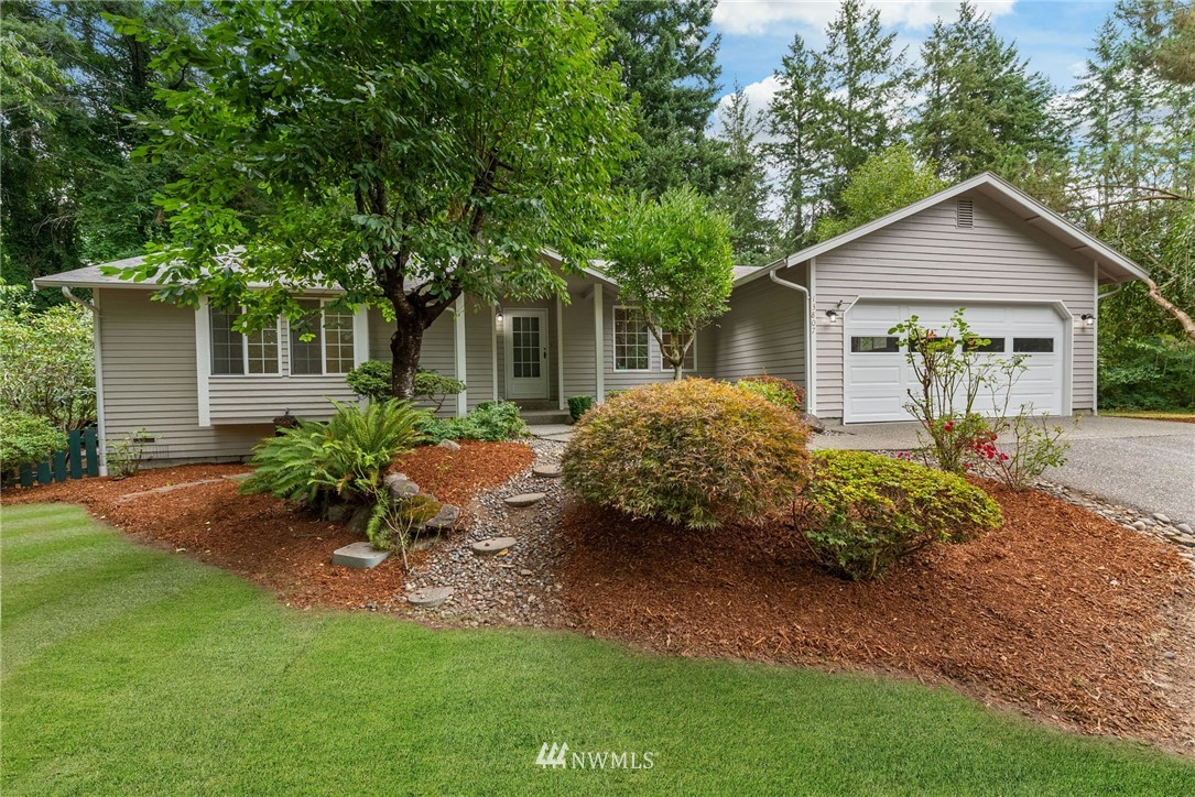 Classic & charming, this updated rambler on a beautifully landscaped, private 1.3 acre lot at the end of a quiet lane checks all the boxes! Better than new w/$100K in upgrades! New cabinets & quartz counters throughout, new high quality stainless appliances, new engineered flooring throughout, all new trim, new doors, fresh paint inside & out, and the list goes on. You'll love the open floor plan w/vaulted ceilings, & the cozy kitchen / eating area / family room that opens to the back yard. And did we mention there's a new furnace, new propane tank, two decks, raised beds, detached dbl story shop/studio space, additional garden shed, and a delightful array of fruit trees! Close to Hwy 16 for commuting & just 10 minutes to Gig Harbor North!