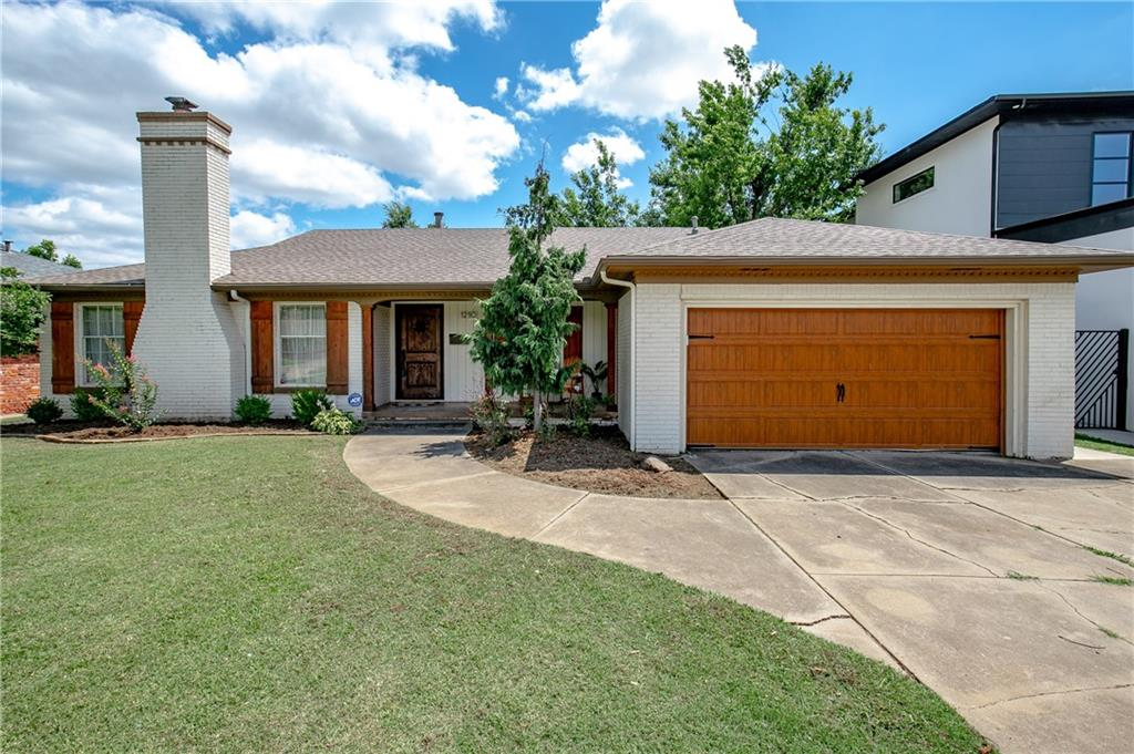 Welcome HOME to this beautiful property on a large lot in the heart of Nichols Hills. Amazing curb appeal with lots of front yard and beautiful landscaping. The front porch is cozy, welcoming and the perfect place to sit back and enjoy a cup of coffee. The interior has been freshly painted and features wood flooring throughout the main areas and guest rooms. The oversized master feels like you are in your own oasis separated from the other rooms. It features 3 doors and window creating a beautiful natural light with 2 large closets. The attached bathroom has a separate shower, tub, double vanities, storage and a privacy water closet. The backyard is wonderful for entertaining and deep enough to add a bonus room! You will also be near Classen Curve, great shopping and restaurants. Call today for your private tour