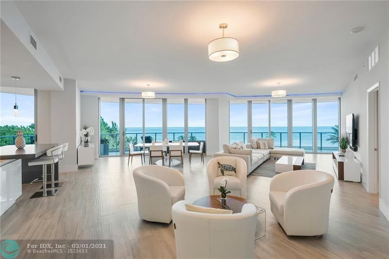 Welcome to the best address on Fort Lauderdale Beach. Paramount, built new in 2018, offers 95 luxury residences. Amenities include a Porte-cochere 24-hour valet, club room, coffee bar, impressive fitness center with locker room, massage & steam room, Poolside bar & Summer BBQ area. Enjoy a 3rd-floor pool overlooking the ocean, beachside and pool service (chairs, umbrellas, towels), and signature oceanfront restaurant coming soon. Inside residence 502, you will find a generous 4,365 SF of living area with 3,474 under air and 891 SF of balcony space. Features include motorized window treatments, custom closets, LED lighting, Italian cabinetry, Subzero, Wolf, and Bosh appliances. Furniture is negotiable. Rented at $19,900/M.