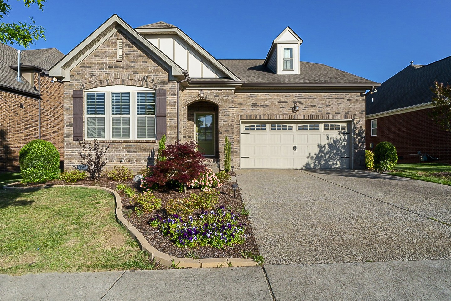Built in 2013, this Nolensville two-story cul-de-sac home offers granite countertops, and a two-car garage.