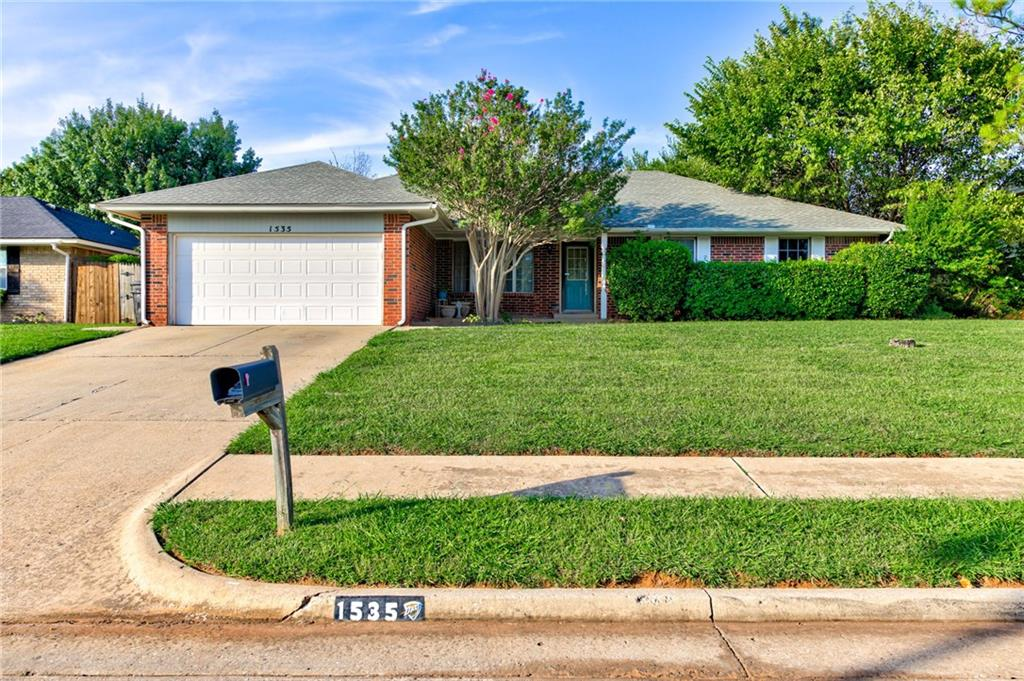 This one is priced to sell and move in ready! True 4 bed/2 bath/2 car garage located in Moore neighborhood. Large sized living room. Kitchen with pantry, breakfast bar, dining area, electric range/oven, dishwasher, disposal and refrigerator. Huge laundry room that has plenty of space for the washer/dryer, extra fridge, desk, storage etc. Massive backyard. Fresh carpet and paint 2019, new HVAC system 2016 and roof was replaced in 2013. Hurry this one won't last!!!!!