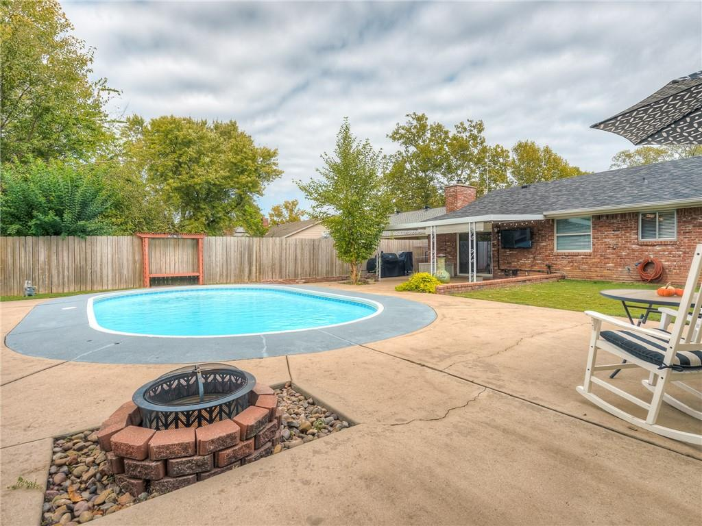 "Check out this adorable 3 bedroom home in Norman with a POOL!  The property is just a short distance from I-35 & conveniently located near lots of restaurants & shopping.  It's not too far from the OU Campus, but not close enough that game day traffic has been an issue.  Alcott Middle School is just around the corner & Rotary Park is right down the street.  The updated kitchen has newer appliances and lots of cabinets and counter space.  The home offers a huge master bedroom with a walk-in closet & a good sized living room with a newly replaced fireplace, that overlooks the beautiful backyard pool.  There is a large covered back patio with lots of space for lounge chairs by the pool, but plenty of grassy space too.   Recent updates include new fans & light fixtures, 2"" blinds, as well as a new toilet, vanity & faucet in the master bathroom.  Upgrades also include a nest thermostat, ring doorbell, keypad deadbolt & a custom fireplace mantle.  Get your offer in quick on this one!"