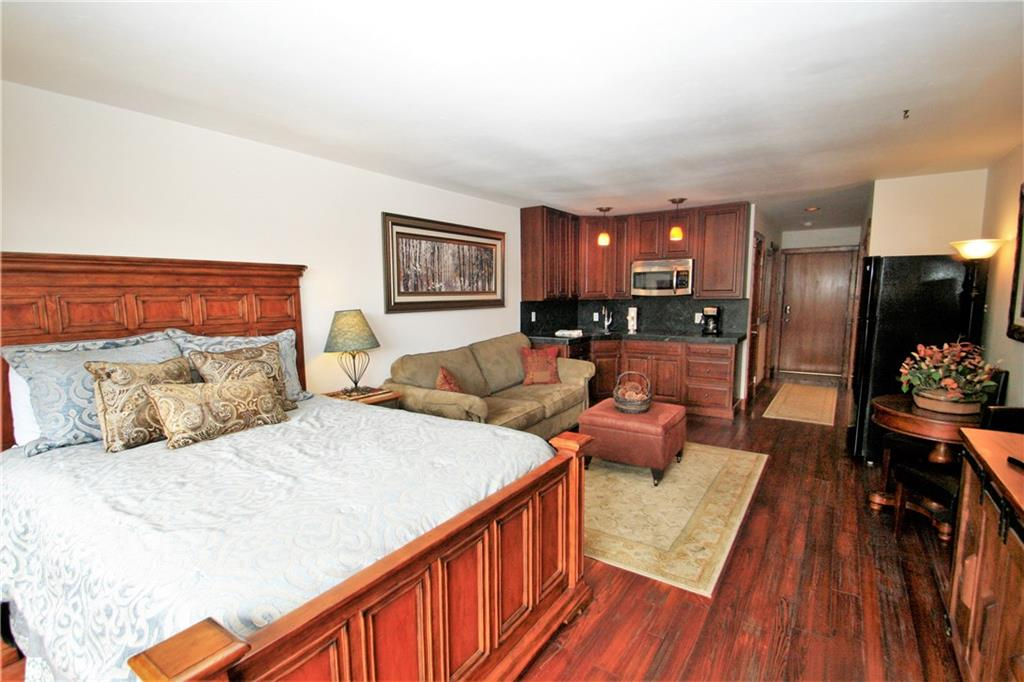 This updated well appointed Studio in the heart of downtown Frisco could be your ideal home base for all the fun Summit County has to offer. One block to Main St. with annual events and several restaurants and shops to enjoy. Endless outdoor recreation from hiking, biking to kayaking on Lake Dillon in the summer to skiing, snowshoeing and tubing or cross country skiing in the winter. 6 major ski resorts nearby. Large sunny deck for grilling. Storage locker and underground parking. Great rental.