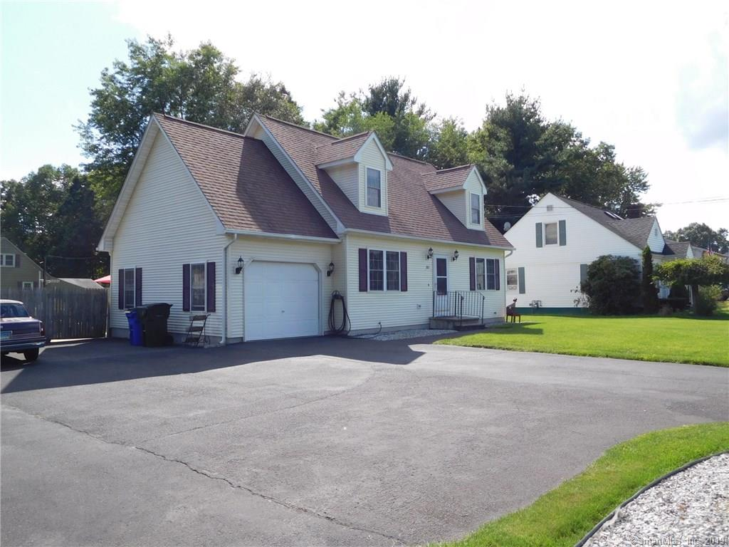 Fall in love with this well maintained cape. Built in 1998, it features central air, fenced in back yard, sprinkler system, shed, 2 full baths, and an expanded driveway. All new appliances about 5 years ago, private well feeds sprinkler system, house built extra insulation to improve heating efficiency. C