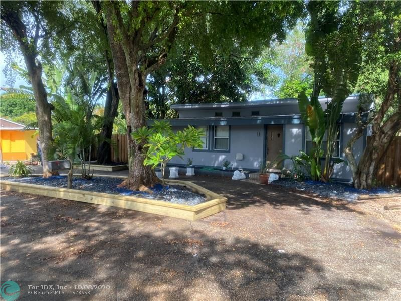 This very unique and charming 4 bedroom/2 bathroom property features a 3 bedroom/1 bathroom main house that also has basement and a detached 1 bedroom/1 bathroom cottage that has been completely remodeled.  The lush and tropical landscaping takes you out of the city and into a world of tranquility and serenity.  Located just blocks to the heart of Wilton Drive, 2 miles to the arts district of Flagler Village and Downtown Fort Lauderdale, and less than 4 miles to Fort Lauderdale Beach.  This is one of the most sought after neighborhoods in Wilton Manors.