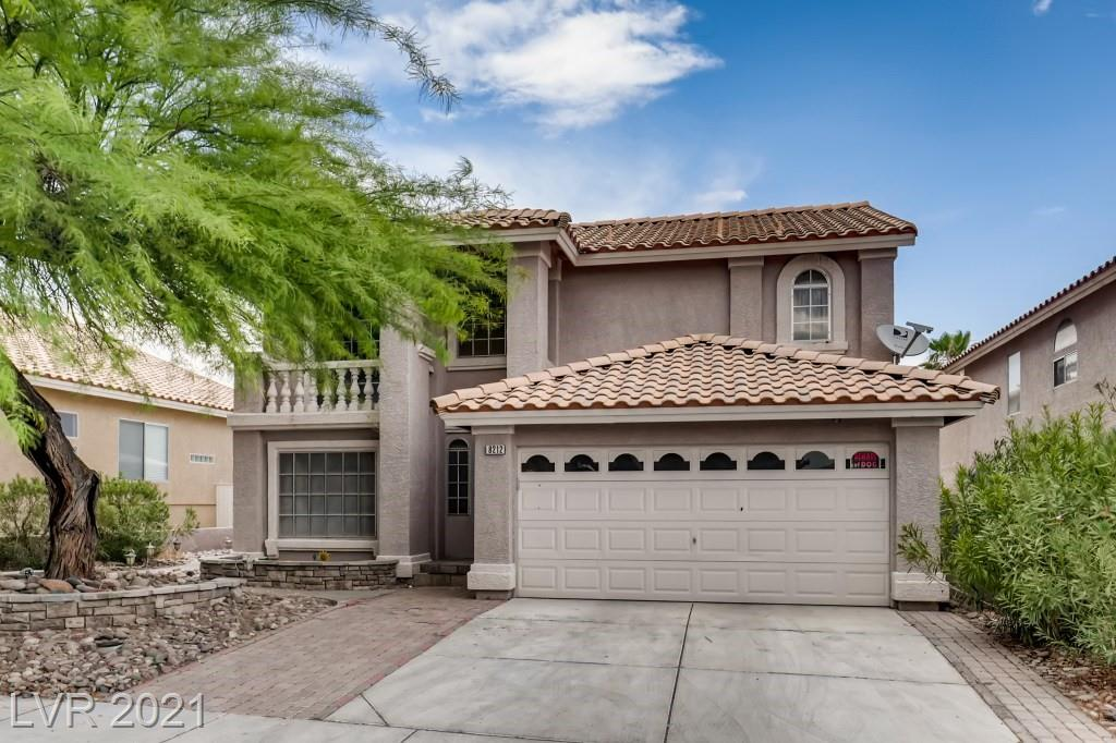 Gorgeous 2 Story Home Located in South Shores Summerlin Community. Paver Driveway w/ Stamped Concrete Walk Paths to Backyard Access. Backyard w/ Large Pool & Spa w/ Waterfall Feature. Enclosed Covered Sun Room/Patio Area w/ Interior & Exterior Access to the Pool. Kitchen Fully Equipped w/ Stainless Steel Appliances, Walk-In Pantry, Break Bar Countertops, Access to Backyard via French Doors & Ample Counter & Storage Space! Open Floor Layout to the Living Room w/ Fireplace. Family Room w/ Hardwood Flooring adjacent to Formal Dining Area w/ Fireplace. Separate Laundry Room & 1/2 Bathroom Downstairs. Gorgeous Large Primary Bedroom with Dual Walk-In Closet, Ceiling Fan & Private Bathroom with Double Sink, Separate Shower & Tub. 2 Other Bedrooms w/ Guest Bathroom including Double Sink & Shower/Tub Combo. 4th Bedroom w/ Ceiling Fan & Upstairs Balcony Access. This Spacious Summerlin has has everything you could ask for your Entertainment, Enjoyment & Relaxation Purposes!