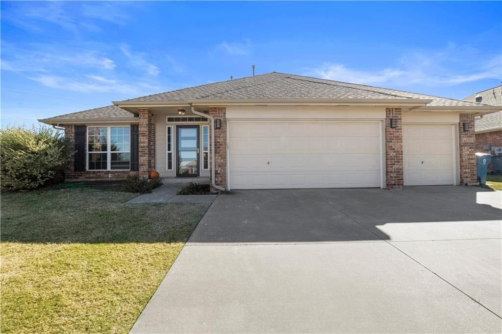 Updated and move-in ready. Great location on the northside of Edmond near all the shops at Covell and Kelly. Home sits on a corner lot and has a nice sized back yard complete with a covered patio. The floorplan is perfect if you want separation between the kitchen and living room. The flooring was updated with wood-like tile throughout the home and features a Pinterest worthy custom mantle and fireplace.