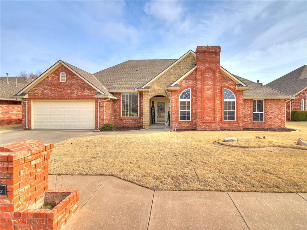 HEY YA'LL, STOP THE CAR!  Come see This Showcase Home in Blue Quail Ridge!  This True 4 bed, MIL plan, plus Huge Study, 2.5 bths, Giant Open floor Plan Living, w/gas FP, Updated Kitchen, w/new Corian Tops, SST Sink, Trash Compactor, Built in appliances, storage that won't stop, Pull out lower Cabinets, Secret hiding Pantry cabinet that keeps on going! Center Island, Breakfast bar, has eating area, but you also have a Formal Dining. Now for the BIG UPDATES, HVAC (warranty until 2026!), Roof, STORM Shelter, Water heater, Master Bthrm shower Enlarged! Extended Garage, Backyard is very big and has a large Covered back patio w/natural gas hookup for your Grill, Wood Fence, Sprinkler Sys, Storage Bldg for lawnmower, etc. Enjoy the Community Pool and Playgrounds, for you, your kids or grandkids! Highly desired Edmond Schools! Close to Malls, Hospitals, entertainment, Highways for easy access and more!  Don't miss out on this AMAZING Home for your family to grow in!  Schedule your viewing Now,