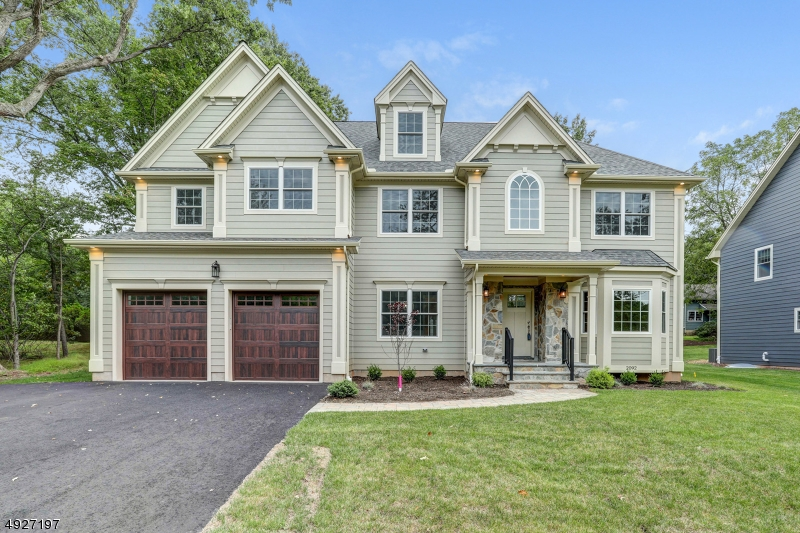 Exceptional value in this brand new construction Stately Custom Colonial offering outstanding finishing touches. Coffered tray ceiling, molding and trim throughout 4 levels of living space. Gourmet Kitchen w/ custom white cabinetry, center Island, quartz counter-tops, SS appliances, dry bar. Family Rm w/gas fireplace & French Doors lead to patio w/fire pit for outdoor living space. Formal Living Rm & Dining Rm, Mud Rm w/custom built-ins, 1st Fl. guest Bedroom w/ full Bath. 2nd Fl: Master Bedroom w/ 2 walk-in closets, full Master Bath w/ double sinks, soaking tub & over-sized stall shower, 2nd Bedroom w/full Bath, 3rd & 4th Bedrooms and main Bath. Walk-up 3rd Fl Bonus Rm and storage. Finished tiled Basement w/ Recreation Rm, Bedroom and full Bath. 2 car attached Garage. Some photos are virtually staged.
