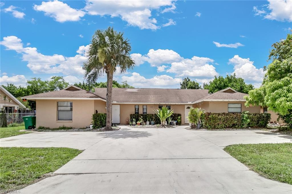 Duplex located in Golden Gate City! This duplex offers 2 units with 2 bedrooms and 1.5 bathrooms on each side! Each unit has central A/C and its own water meter. Both sides offer a screened patio and double driveways.