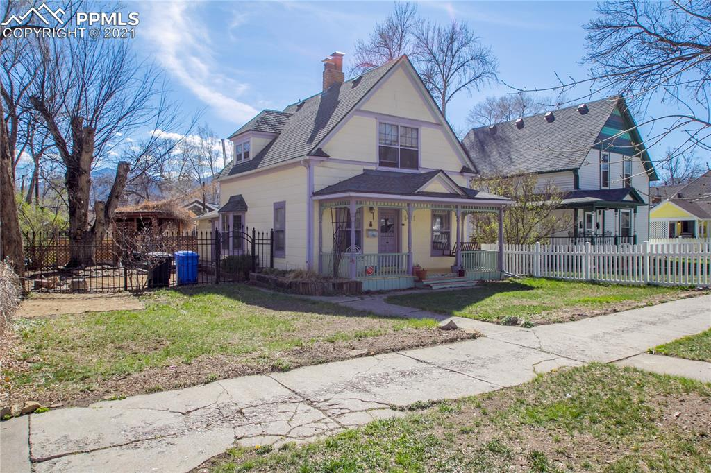 Amazing opportunity in Old Colorado City! 2 HOMES on one beautiful lot - the old & the new! The original home (3 bed, 1.5 bath) was built in 1895, the cottage on the back of the lot (2 bed, 1 bath) was built in 2020. The original home has lots of character, and lots of potential. Newer kitchen appliances, some updated electrical and plumbing work, AC, class 4 roof, and a back deck that is perfect for entertaining. The master has vaulted ceilings with wood beams and 2 closets. // The cottage is a shiplap lovers dream! Shiplap from floor to ceiling, lots of natural light, beautiful vinyl wood floors throughout, granite counters in the kitchen, an electric cooling system, and plenty of storage in the crawl space underneath. The cottage also has its own composite deck, and a side yard with a fire pit. The lot has alley access with a detached 1 car garage on the back of the property. The two homes are separated by a privacy fence and a gate. Minutes to downtown Old Colorado City, minutes to downtown Colorado Springs, easy access to i25 - these homes are in the perfect location!