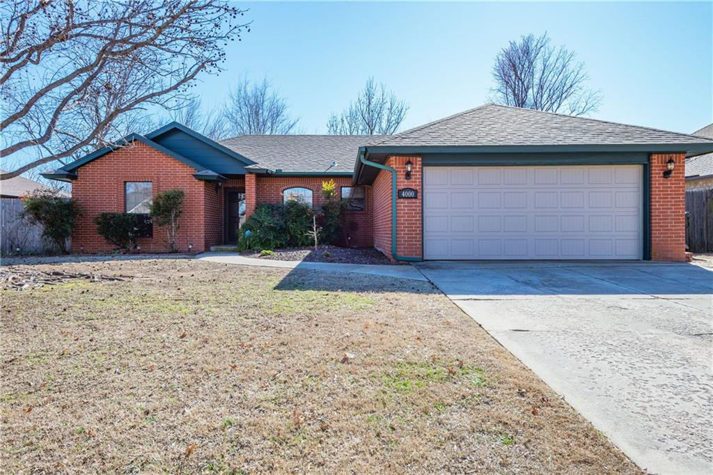 This west side home has some great features.  The home offers a spacious living room with a fireplace, the kitchen has a lot of counter space and breakfast bar.  Dining area is in kitchen and allows ample space for a dining room table.  The Master bedroom has a walk-in-closet and full bath to include a tiled shower.  One the other side of the home is a hall bath flanked with a bedroom on each side that are both spacious.  The backyard has a covered deck with a spot for a TV and plenty of room for an outdoor couch and table with chairs.  Enjoy a crisp Fall day watching an OU Football game on your back patio or enjoying a cup of coffee on an early Spring morning.  Many updates include a hail resistant UL Grade 4 shingle in 2015, newer kitchen remodel and newer flooring and paint.  A wonderful home ready for it's new owners.