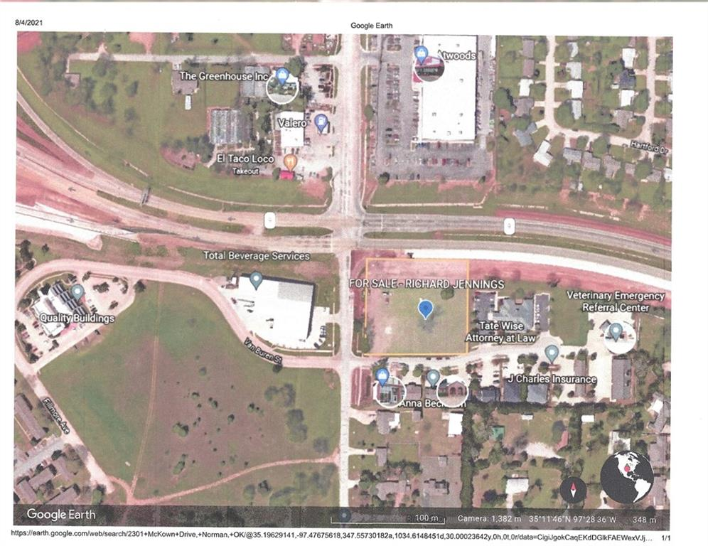 1.37 Acres of Commercial Land (C-1) located at the corner of Highway 9 and 24th Avenue Northwest in Norman, OK.