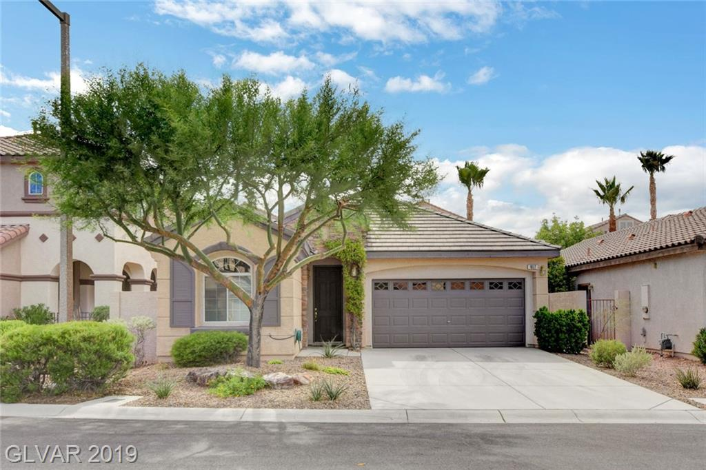Looking for a single story home that has new interior upgrades in a fabulous community? Welcome home! Kitchen has brand new stainless appliances & sink. New carpet,tile & paint throughout. Crown molding. Den offers double doors for office/playroom/exercise room/guest privacy. Fully covered patio, fenced, synthetic grass & putting green..easy access for LV outdoor living. All Summerlin amenities available..parks/pools/tennis/walking trails/events.