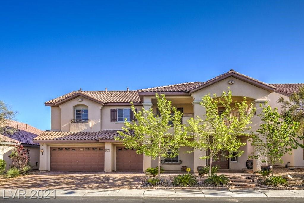 EXTREMELY MOTIVATED TO SELL!! STUNNING AND IMMACULATE 4448 sq. ft. of luxury nestled in the gated Tramanto Villagio of Mountain's Edge master plan.  This beautiful home offers a grand primary suite with three large bedrooms upstairs and an additional bedroom downstairs with direct access to full bath. Additionally, this home offers two large offices and a spacious loft area upstairs.  Large chef's gourmet kitchen offers upgraded cabinets with custom hardware and granite countertops.  This luxurious home is illuminated with a retractable Empress grand chandelier along with three smaller chandeliers and custom cove lighting. Fully paved lush green backyard offers a custom-made tranquil day bed. Buyer and buyer's agent to verify all information. See agent to agent remarks for important items.