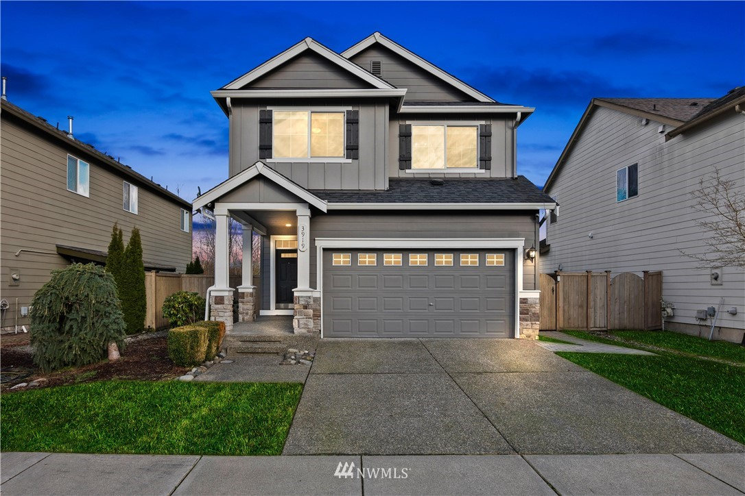 Beautiful Craftsman situated in the Saddle Creek Community is Move-in ready and meticulous maintain! This tastefully design home features an open floor plan with laminate flooring and loads of natural light, powder-room, gourmet kitchen with walk-in pantry. Breakfast bar opens up to dining area and living room that warms up with the cozy fireplace or you can either turn up the A/C to cool down during those summer nights! Second floors offer two generously sized bedrooms and laundry room, Spacious Master Suite has a 5-pieced bath with soaking tub, large walk-in closet & vaulted ceiling. Fully fenced backyard, detailed landscape & 2-car garage. Great community parks & trails, easy access to freeways and much more!