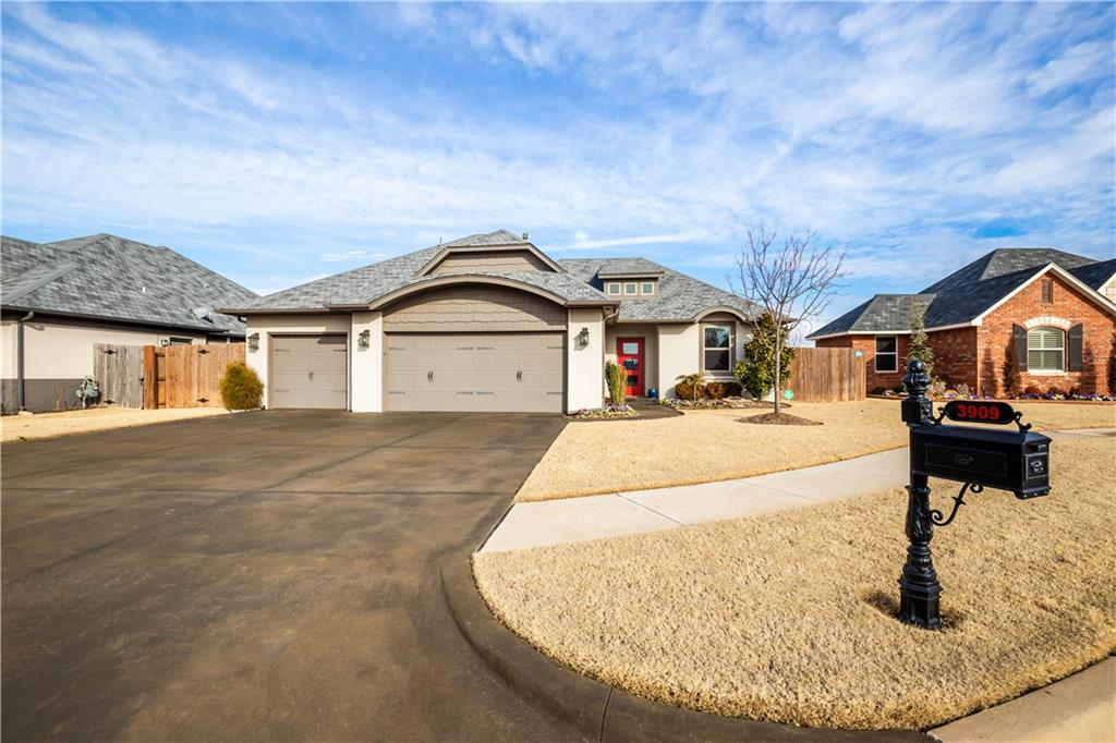 Convenient, beautiful, open, bright, quiet, comfortable, and pristine are just a few words that will come to your mind when you walk into this custom built nearly new home in Deer Creek Schools.  This is your opportunity to own a home in this vibrant new community with everything ready for you.  Sitting on a cul-de-sac backing up to the pond at the rear of the neighborhood gives you the best of both worlds; access to major highways but away from traffic.  This gorgeous home has a secluded master bedroom with all of the amenities you would expect only better.  It was built with upgraded modern carpet in the bedrooms, engineered wood floors in the entry and living room and wood look tile in the rest of the home.  The secondary bedrooms were extended so there is plenty of room and each has a walk-in closet.  The kitchen has complimentary granites on the countertop and island. Every detail was thought about during construction. Don't waste any time coming to visit this gorgeous home.