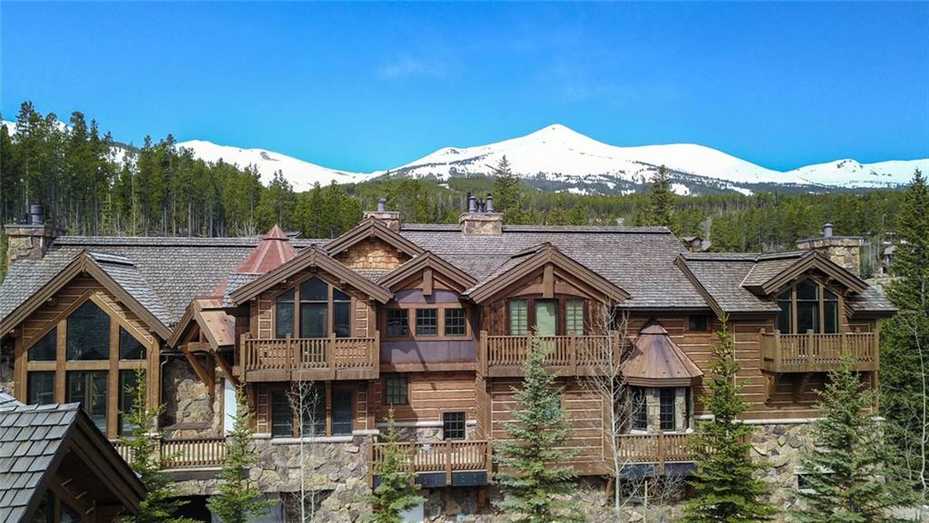 The grandest SKI-IN SKI-OUT luxury residence in Summit County, CO is finally available for the elite buyer. If you are seeking the very best SKI-IN SKI-OUT location at your door, unrivaled new construction quality, old world craftsmanship, sounds of the rushing stream nearby, & the Snowflake Lift in your backyard, then look no further. The thoughtful planning, design, & construction make this monumental work of art much more than a house - Summit's one of a kind SKI-IN SKI-OUT first class estate